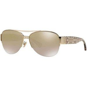 Coach Aviator Style Crystal Gold Lens